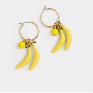 J.Crew Banana Enamel Earrings